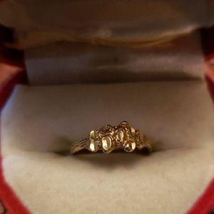 Vtg 10k gold nugget child's ring